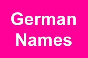 German girl names