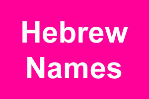 Hebrew girl names