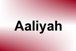 Aaliyah name image