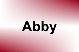 Abby name image