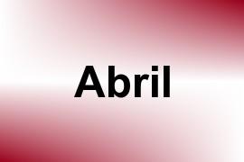 Abril name image