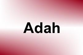 Adah name image