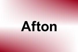 Afton name image