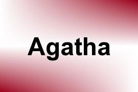 Agatha name image