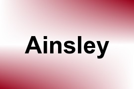 Ainsley name image