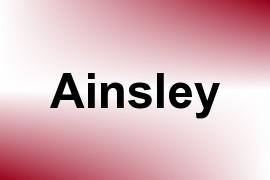 Ainsley name image