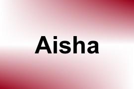 Aisha name image