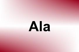 Ala name image