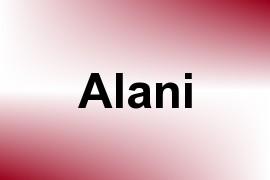 Alani name image