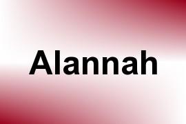 Alannah name image