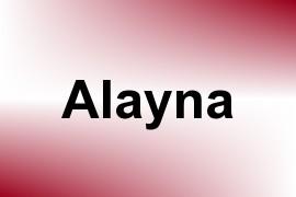 Alayna name image