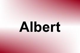 Albert name image