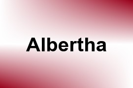 Albertha name image