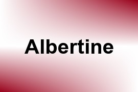 Albertine name image