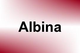 Albina name image