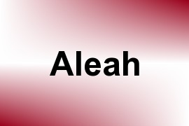 Aleah name image