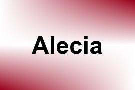 Alecia name image