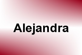 Alejandra name image