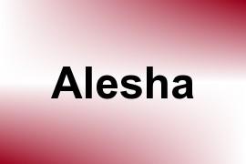 Alesha name image