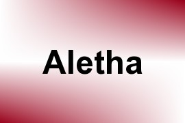 Aletha name image