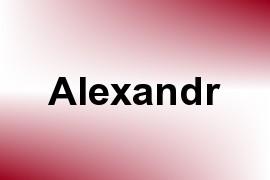 Alexandr name image