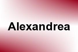 Alexandrea name image