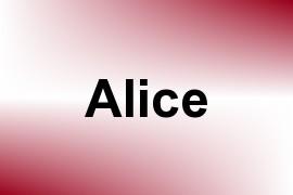 Alice name image