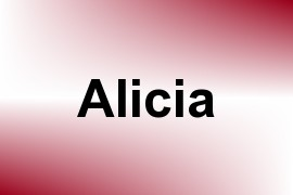 Alicia name image