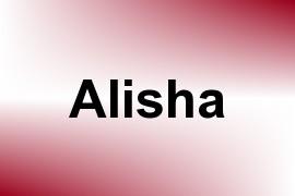 Alisha name image