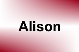 Alison name image