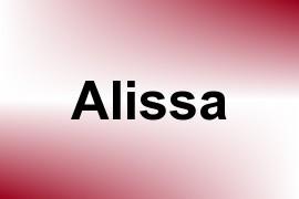 Alissa name image