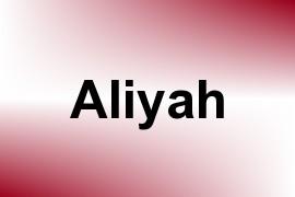 Aliyah name image
