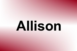 Allison name image