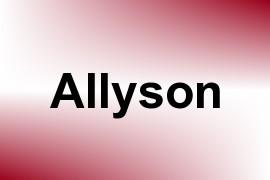Allyson name image