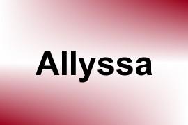 Allyssa name image