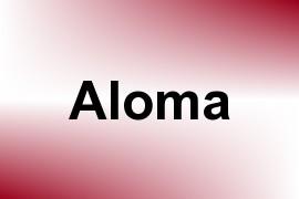 Aloma name image