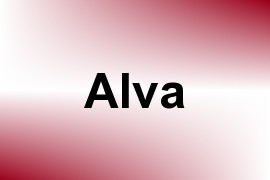 Alva name image