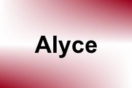 Alyce name image