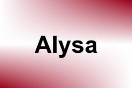 Alysa name image