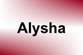 Alysha name image
