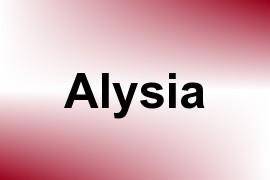 Alysia name image