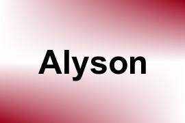 Alyson name image