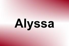 Alyssa name image
