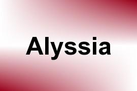 Alyssia name image