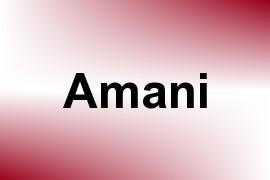 Amani name image