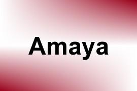 Amaya name image