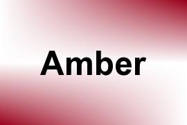 Amber name image
