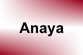 Anaya name image