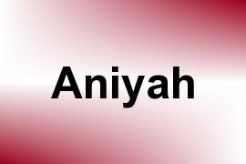 Aniyah name image