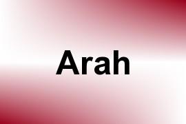 Arah name image